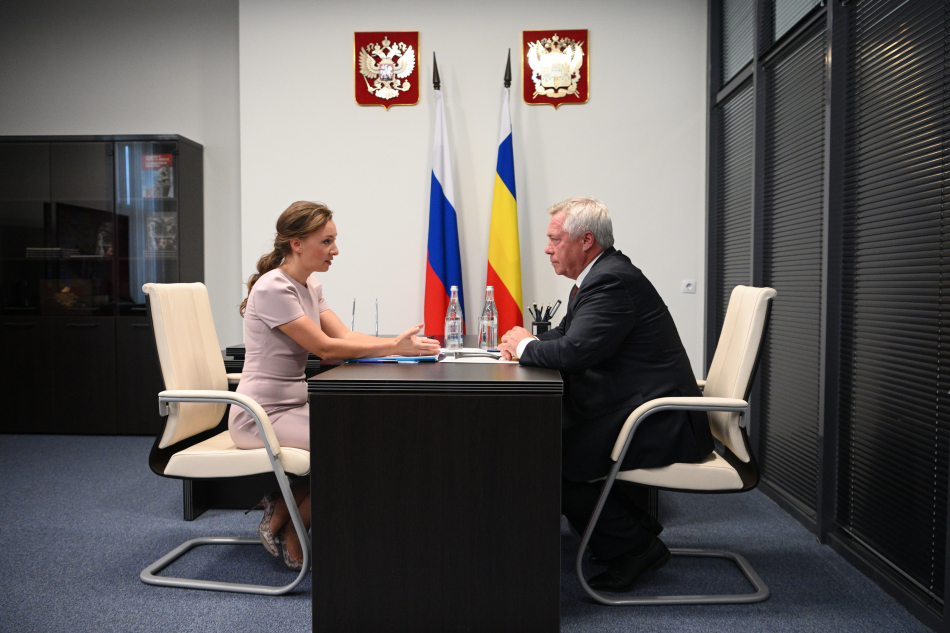 Детский омбудсмен и Губернатор Ростовской области обсудили актуальные вопросы защиты детства