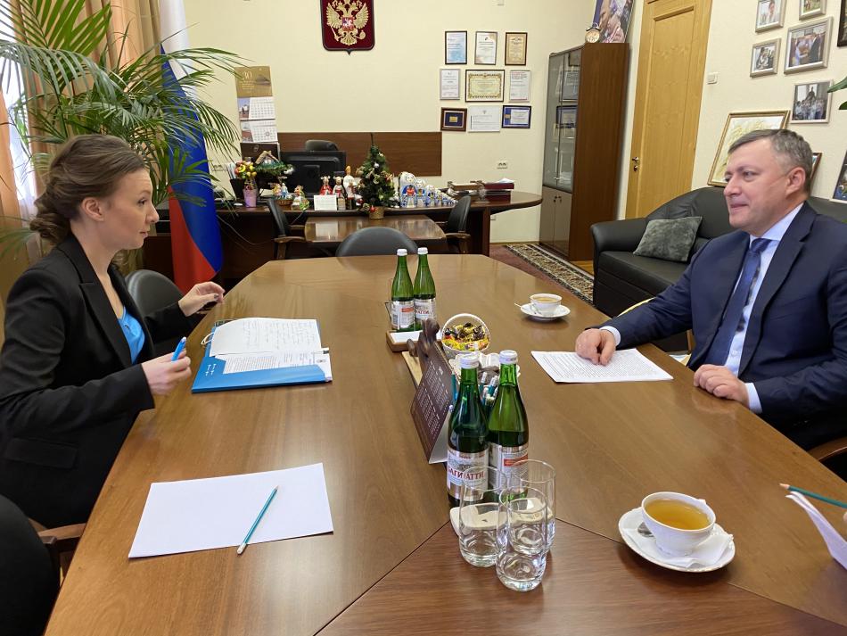 Анна Кузнецова провела рабочую встречу с губернатором Иркутской области