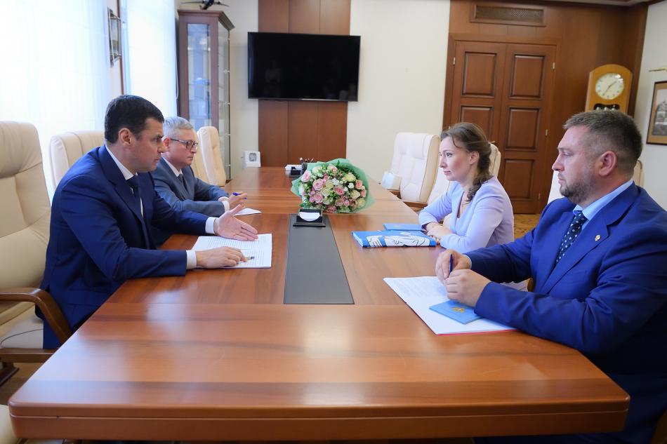 Уполномоченный по правам ребёнка и Губернатор Ярославской области обсудили вопросы безопасности