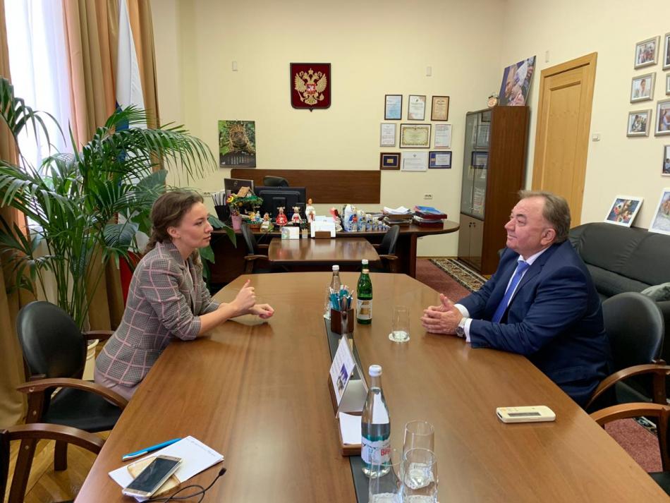 Анна Кузнецова обсудила с врио Главы Ингушетии вопросы поддержки детей в регионе