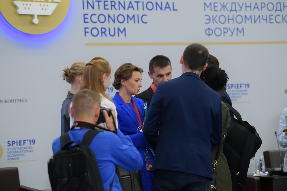 Анна Кузнецова обсудила вопросы демографии на Петербургском международном экономическом форуме