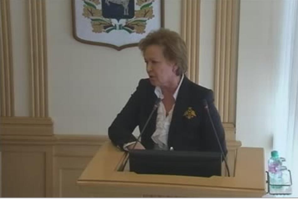 Людмила Эфтимович представила областным депутатам ежегодный доклад о положении детей в Томской области