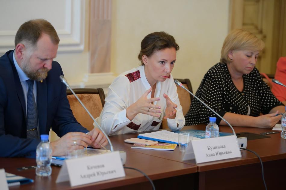 Анна Кузнецова выступила на заседании Общественного совета при детском омбудсмене