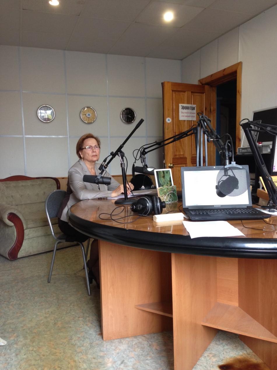 Людмила Эфтимович в эфире радио «Благовест»